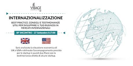 Internazionalizzazione - III° incontro   UK & USA biglietti