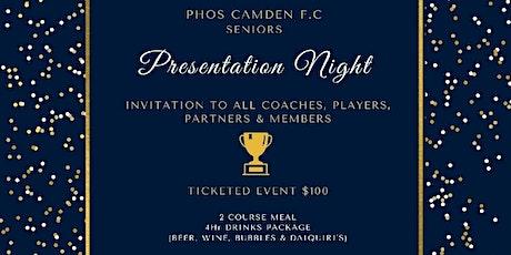 PHOS CAMDEN FC SENIORS PRESENTATION NIGHT tickets