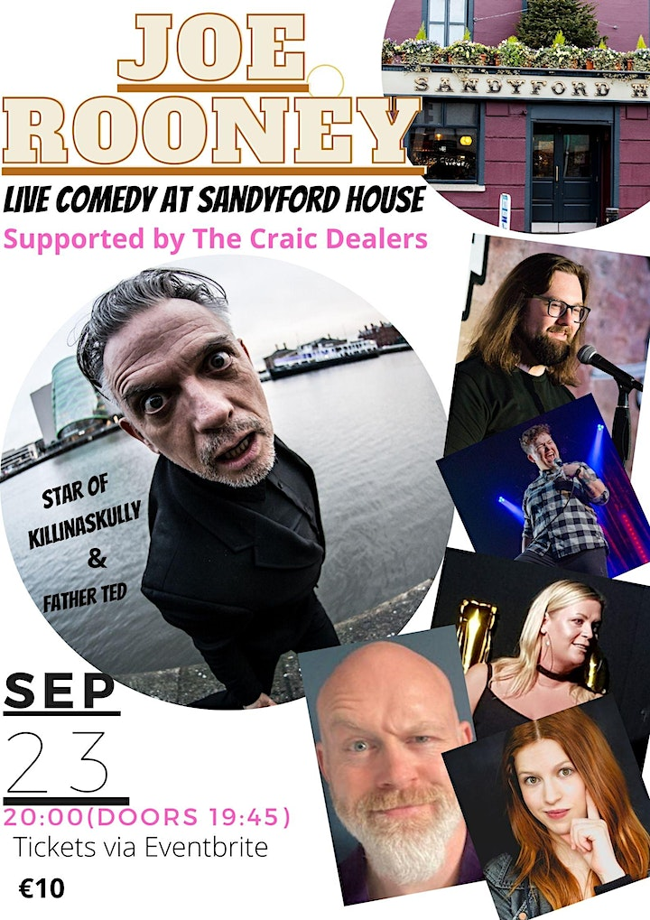 Joe Rooney - Live at the Sandyford House - Supported by The Craic Dealers image
