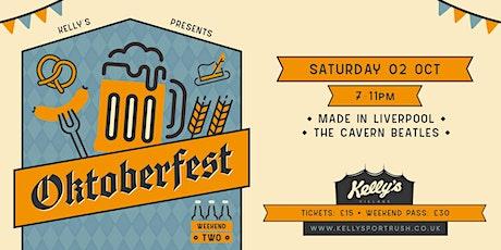 "Oktoberfest #5 Cavern Beatles Tribute ""Made In Liverpool"" at Kellys Village tickets"