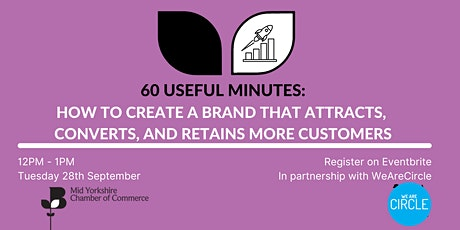 60 Useful minutes- How to create a brand that attracts, converts & retains tickets