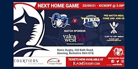 Rams RFC 1st XV vs Leeds Tykes RFC tickets
