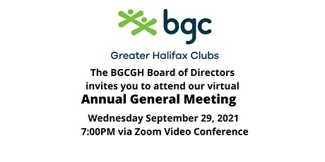 BGC Greater Halifax Annual General Meeting tickets