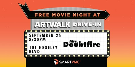 ArtWalk Drive-In : Mrs. Doubtfire tickets