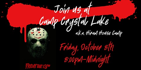 Join us at Camp Crystal Lake tickets