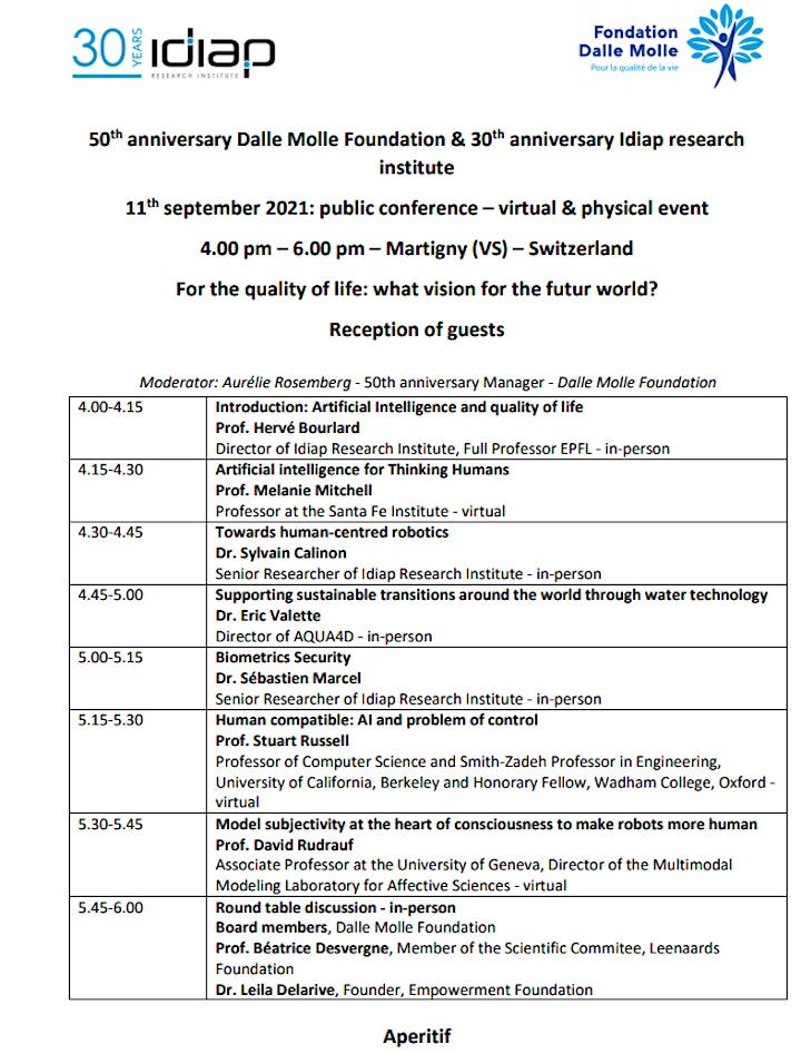 Image pour Conference - Quality of life :  what vision for the futur world ?