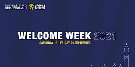 Welcome Week 2021 - University of Birmingham Sport tickets