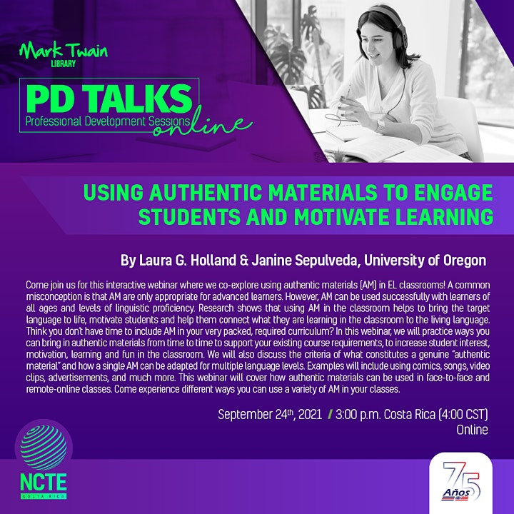 PD TALK: Using Authentic Materials to Engage Students and Motivate Learning image