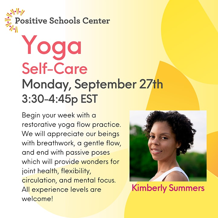 September with the Positive Schools Center! image