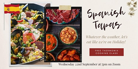 Thermomix cooking class - FREE - theme Spanish tickets