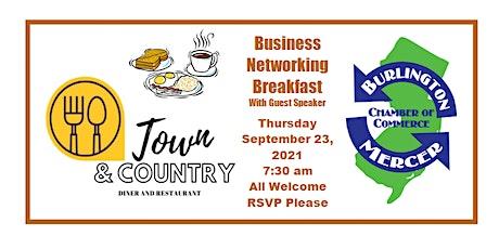 Business Networking Breakfast w/Guest Speaker (In- tickets