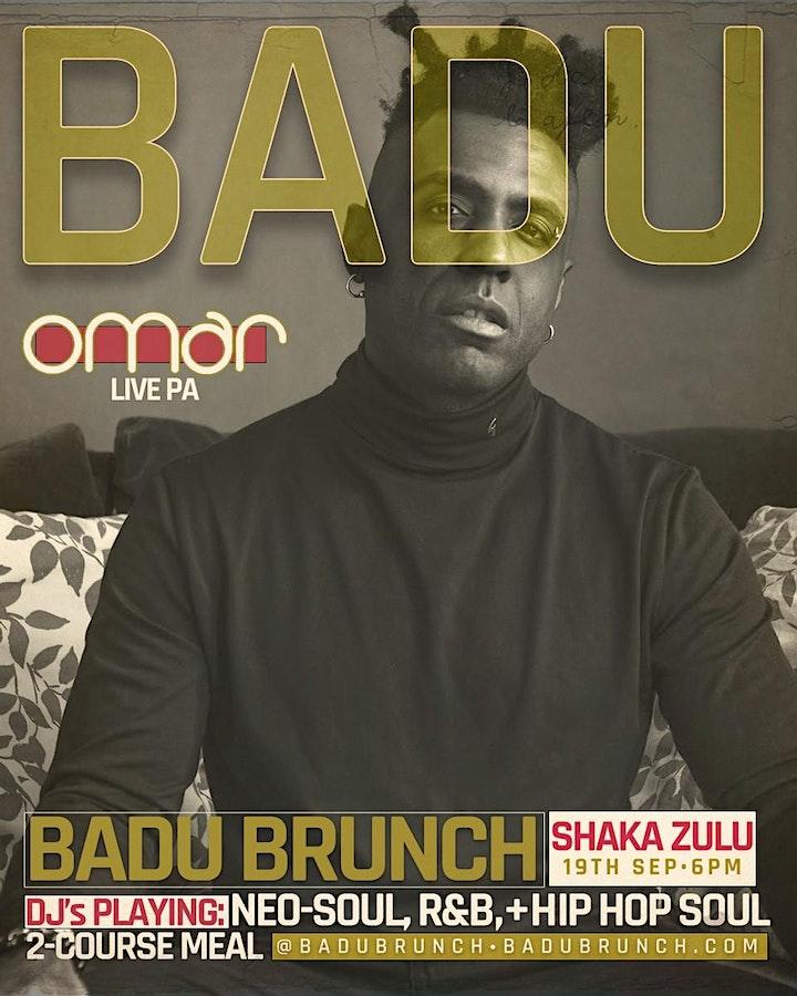 BADU Brunch (LIVE PA from OMAR) (Neo Soul + RnB Lounge) image