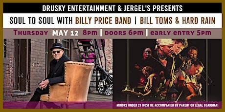Billy Price Band & Bill Toms and Hard Rain tickets