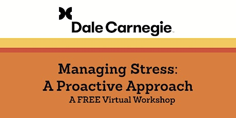 Managing Stress – A Proactive Approach tickets