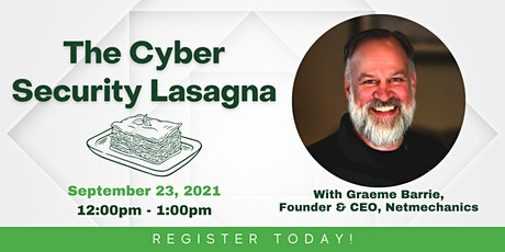 The Cyber Security Lasagna tickets