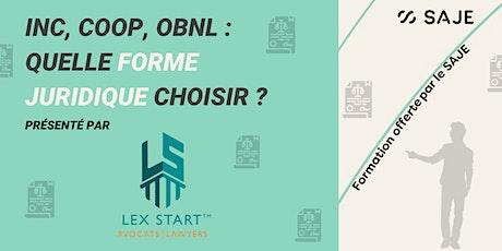 INC, COOP, OBNL : Quelle forme juridique choisir ? billets