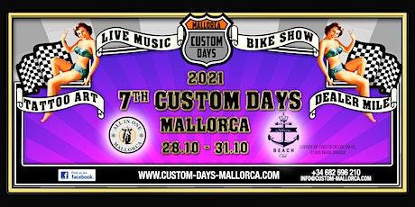 Custom Days Mallorca 28.10. - 31.10.2021 entradas