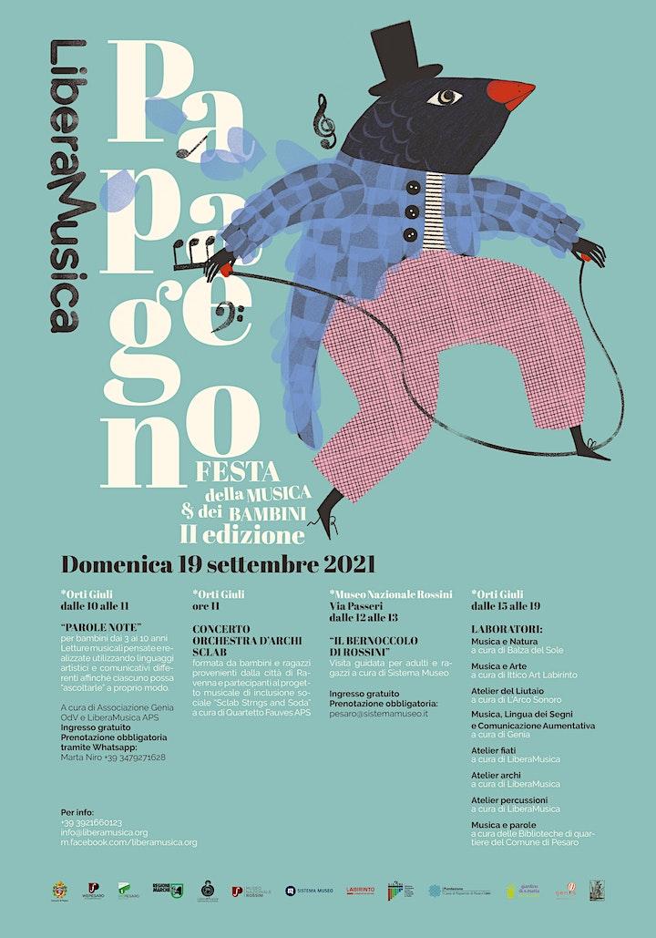 Immagine PAPAGENO - Festa della musica e dei bambini - II edizione 18 e 19 settembre