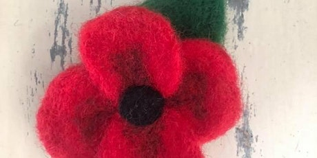 Poignant Poppies, Needle Felting Workshop, suitable for beginners tickets