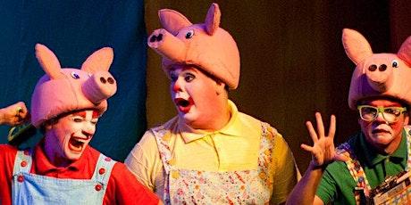 """Desconto! """"Os Três Porquinhos  - O Retorno do Lobo Mau"""" no Teatro Folha ingressos"""