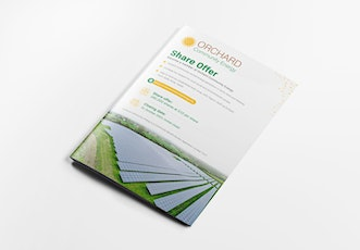 Introducing Orchard Community Energy's 2021 Share Offer tickets