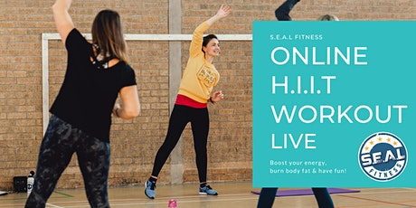 Online HIIT Workout Live tickets