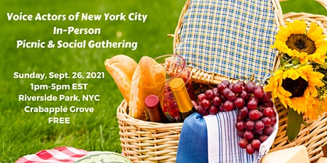 Voice Actors of New York City In Person Picnic & Social Gathering tickets