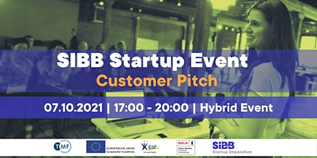 SIBB Startup Event | Customer Pitch Tickets
