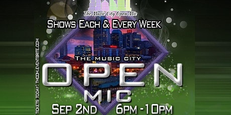 The Music City Open Mic  Showcase September 2nd tickets