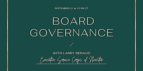 Board Governance Workshop tickets