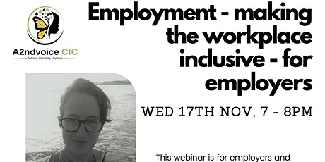 Employment - Making  workplace inclusive for employers with Jess Hendrickx tickets