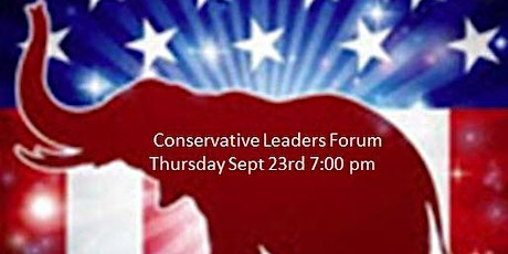 Conservative Leaders Zoom Forum September 23rd tickets
