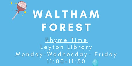 Rhyme Time at Leyton Library tickets