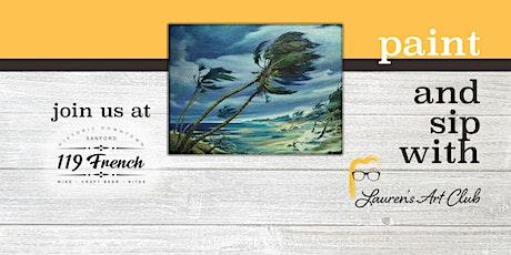 Hurricane Scene Canvas Painting DIY - Paint & Sip tickets