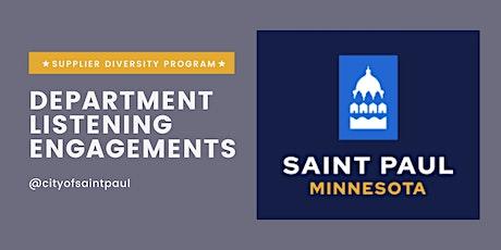 Department Engagement 1(Public Works): September 28, 2021 tickets
