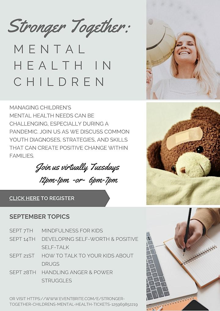 Stronger Together: Children's Mental health image