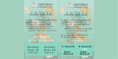 Café Culture: Language Lovers Membership - September tickets