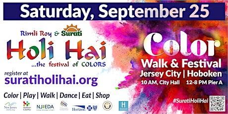 Hudson River Color Walk in Jersey City - Surati Holi Hai tickets