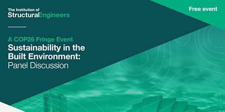 Sustainability in the Built Environment – Panel Discussion -in person event tickets