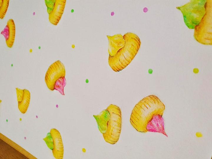 Nostalgic Series #1 - Iced Gem Biscuit Color Pencil Workshop image