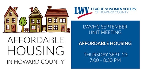 Affordable Housing in Howard County tickets