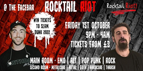 Rocktail Riot -Readings Newest Monthly Alt Club (Win Tix to Slam Dunk 2022) tickets