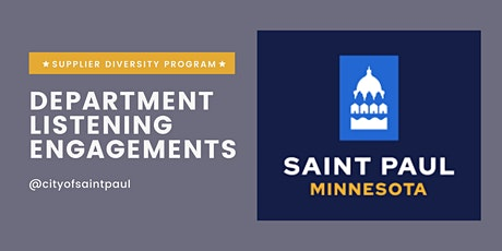Department Engagement 4 (City Senior Leaders): October 27, 2021 tickets