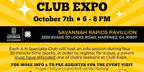 Pre-Registration: Columbia County 4-H Club Expo  - (Grade K-12 / FREE) tickets