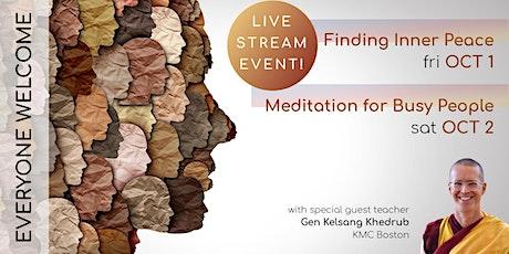 Finding Inner Peace: A Public Talk tickets