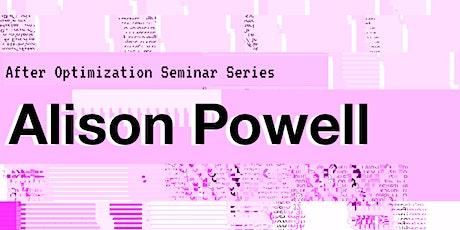Alison Powell - Book talk: Undoing Optimization tickets