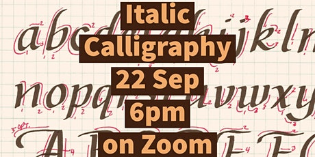 Zoom Craft-Along:Calligraphy tickets