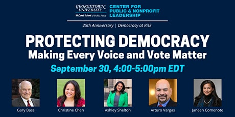 Protecting Democracy: Making Every Vote and Voice Matter tickets