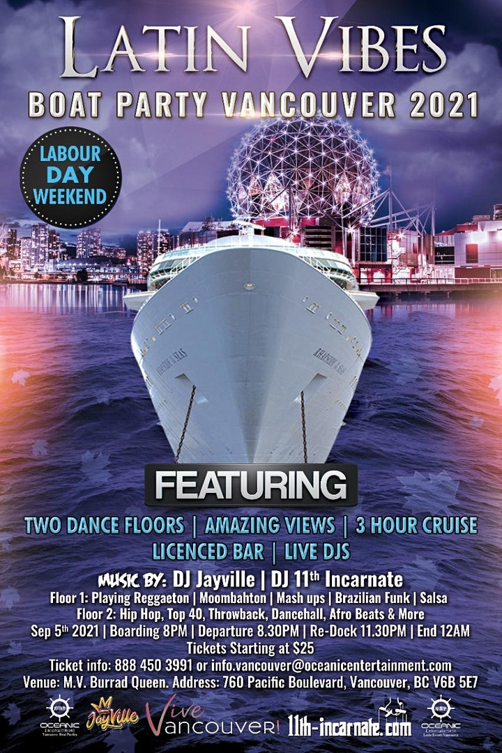 Latin Vibes Boat Party Vancouver 2021 image