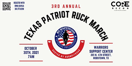 """3rd Annual Texas Patriot Ruck March """"9/11 We Remember"""" tickets"""